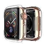 [2 pack] Funda Apple Watch 44mm Series 4/Series 5, Protector Pantalla iWatch 4 case Protección Completo Anti-Rasguños Ultra Transparente Funda Suave TPU, para Nueva Apple Watch Series 4/Series 5...