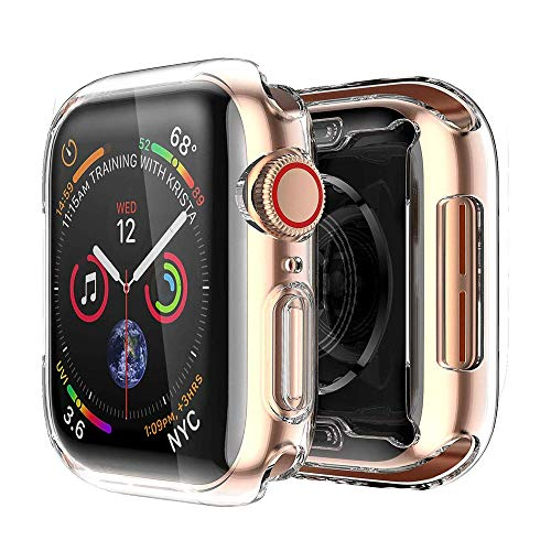 [2 pack] Funda Apple Watch 44mm Series 4/Series 5, Protector Pantalla iWatch 4 case Protección Completo Anti-Rasguños Ultra Transparente Funda Suave TPU, para Nueva Apple Watch Series 4/Series 5 44mm