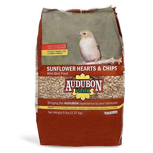 Audubon Park 12224 Sunflower Hearts & Chips Wild Bird Food, 5-Pounds