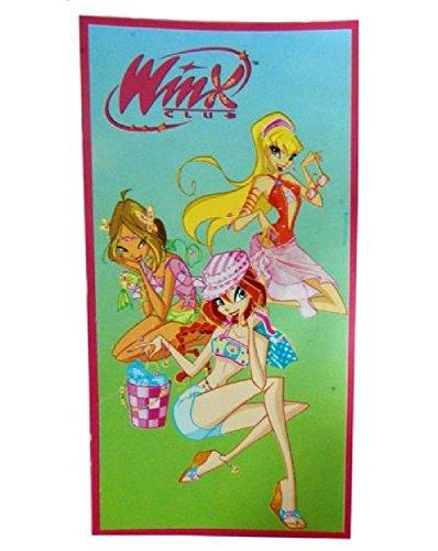 telo mare winx Winx Club Telo Mare Bambina Bloom Flora Stella Asciugamano Bagno Doccia in Cotone Spugna Winks