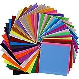 Lictin 45 Pezzi Feltro in Fogli DIY Feltro Multi Colori Tessuto Poliestere per Mestieri Cucire 15cm*15cm Feltro Acrilico per Patchwork Feltro Acrilico Morbido
