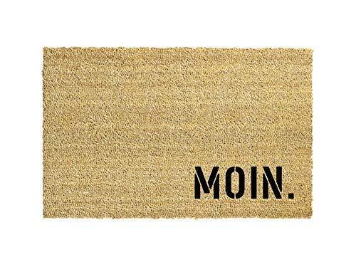 MOIN. Kokos-Fußmatte   Fußabtreter   Türvorleger   Teppich   40 x 60 cm   mit Spruch   Geschenk   Hochzeit   Geburtstag   Einzug   Weihnachten