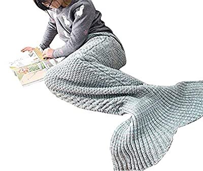 "CASOFU Casofu174; Mermaid Tail Blanket Crochet and Mermaid Blanket for Adult,Summer Super Soft Sleeping Bags(71""x35.5"") Summer Purple"