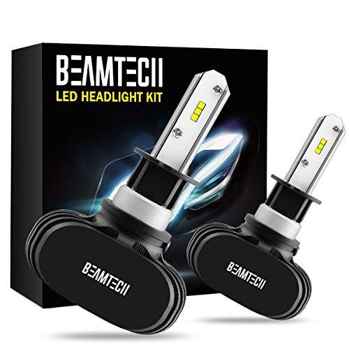 BEAMTECH - Lampadina LED H11, 50 W, 6500 K, 8000 lumen, estremamente luminosa, H8 H9 CSP, kit di conversione chip