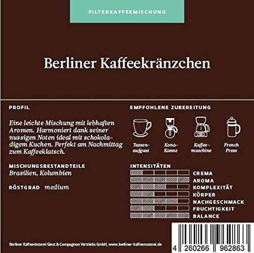 BKR | Kaffee | Berliner Kaffeekränzchen | Arabica | Mischung 500g Bohne