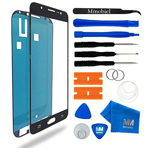 MMOBIEL Front Glas Reparatur Set kompatibel mit Samsung Galaxy J7 (2016) J710 (Schwarz) Display mit Werkzeug-Set