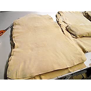Top Leather im Natural form cut approx. 50x90 cm, Leather cloth - 100% fully tanned trans - Professional quality as a duster for the kitchen, as a car leather, leather cloth