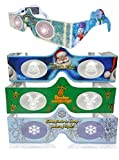3D Christmas Glasses - Lights Turn into Magical Images Right Before Your Eyes! Our USA MADE Holiday Specs Are Perfect For Family, Friends Or Any Holiday Celebration! See Santa, Snowmen & More!