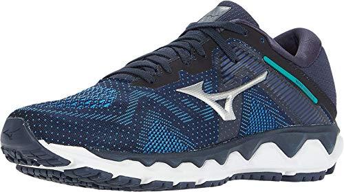 Mizuno Men's Horizon 4 Running Shoe, Navy Blazer - Silver, 10.5 D