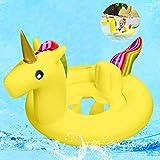 Baby Schwimmring,Baby Schwimmhilfe Einhorn ,Baby schwimmring aufblasbarer,Baby Pool Schwimmring,Aufblasbarer Schwimmreifen für Kinder,Babys,Schwimmring für Kinder ab 6 bis 48 Monaten (Weiß)