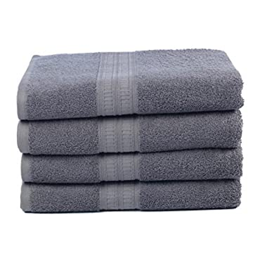 Ariv Collection Premium Bamboo Cotton Bath Towels - Natural, Ultra Absorbent and Eco-Friendly 30  X 52  (Coal)