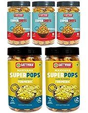 Sattviko Immunity Booster Combo - Gur Chana Supershots, Turmeric Makhana Superpops | Healthy Snacks | Foodyoga