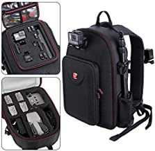 Smatree Backpack Compatible with DJI Air 2S / DJI Mavic Air 2 Drone and GoPro Hero 9/8/7/6/5/5 Session/Hero Session, Fit for DJI Remote Controller