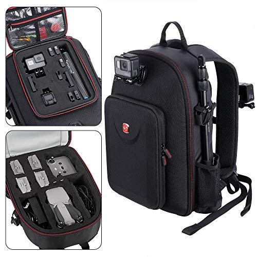 Smatree Backpack Compatible with DJI Mavic Air 2 Drone/GoPro Hero 9/8/7/6/5/5 Session/Hero Session, Fit for DJI Remote Controller