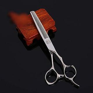 6インチ美容院プロフェッショナル理髪はさみ、歯切断高品質理髪ツールはさみ モデリングツール (色 : Silver)