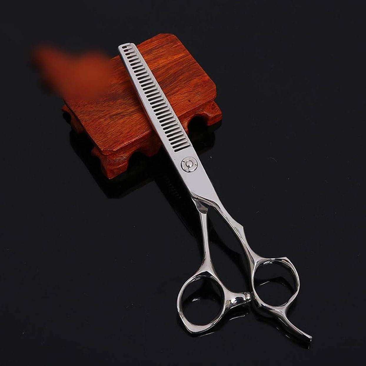 ミスなしで連鎖6インチ美容院プロフェッショナル理髪はさみ、歯切断高品質理髪ツールはさみ モデリングツール (色 : Silver)