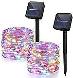 Yizhet 2 Piezas Guirnaldas Luces Exterior Solar,10M 100 LED...