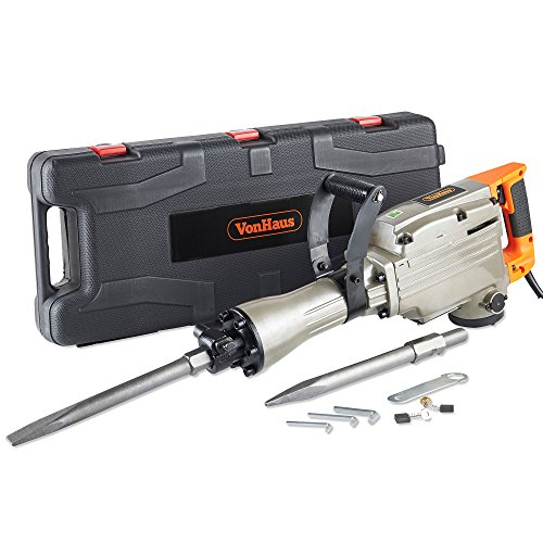 VonHaus 1500W Electric Breaker - Demolition Hammer Drill for Concrete