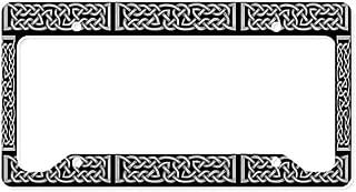 CafePress Celtic Knot Gray Aluminum License Plate Frame, License Tag Holder