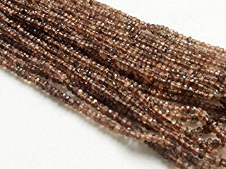 6 inch Strand Natural Andalusite 3.5 mm rondelle Faceted Beads for Jewelry - Andalusite Faceted rondelle Beads, Natural Faceted Reddish Brown Andalusite Beads, AAA gems, 3.5mm, 6 inch