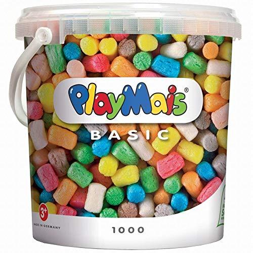 PlayMais Basic 1000 Bastelset für Kinder ab 3 Jahren | Basteleimer mit über 1000 bunten Basteln | Natürliches Spielzeug | Fördert Kreativität & Motorik | Geschenk für Mädchen & Jungen