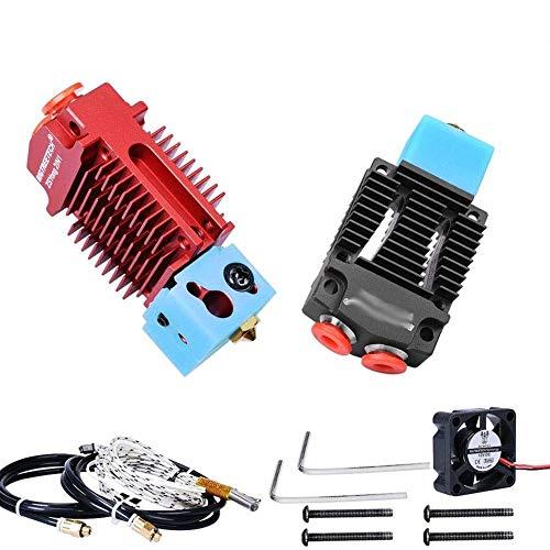 Printer Accessories 2 in 1 Out Fit for Hotend J-Head Extruder 3D Printer Accessories Bowden Extruder Multi-Color 12V/24V 1.75MM Filament Cooling Fan VS V6 Hotend (Color : Red)