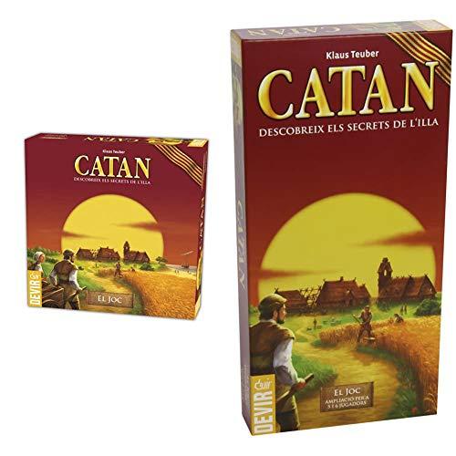 Devir Catan, Juego de Mesa Idioma catalán (BGCAT) + Catán, Ampliación para 5 y 6 Jugadores En Catalán (Bgcat56)