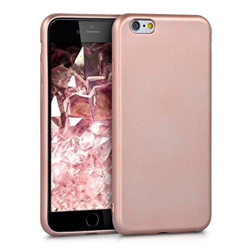 kwmobile Cover Compatibile con Apple iPhone 6 / 6S - Cover Custodia in Silicone TPU - Backcover Protezione Posteriore - Oro Rosa Metallizzato