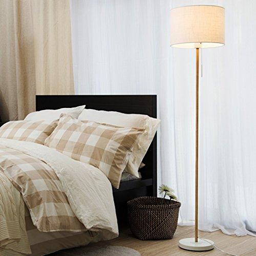 LightSei- Lampe de plancher Salon Simple Chambre moderne Style européen Lampes verticales créatives (Couleur : Blanc)
