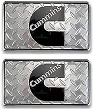 Cummins Diesel License Plate Tag Diamond Plate C Logo (2)
