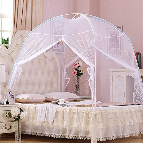 Tienda de campaña para Mosquitos, tamaño Grande: para Cama de Matrimonio a tamaño King, Agujeros Finos, toldo, mosquitera, diseño Plegable con Parte Inferior,White,100x200cm