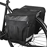 WOTOW Bike Panniers Rear Rack Bag, 28L Large Capacity Water Resistant Bicycle Trunk Expedition Touring Bag Reflective Rear Seat Saddle Carrier Pack for Grocery Shopping Commuter Long Cycling Trip