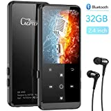AGPTEK Grand Ecran 32Go MP3 Bluetooth 4.0 en Métal, Corps Miroir 2,4 Pouce Ecran LCD Lecteur...