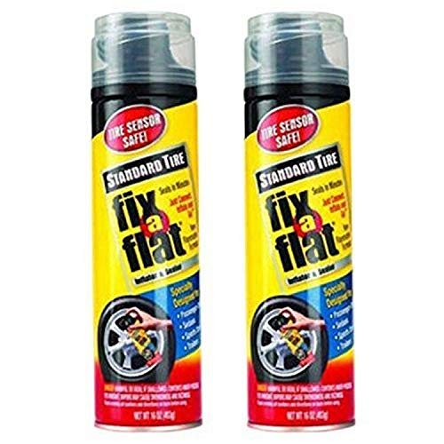 Fix-A-Flat Aerosol Tire Inflator with Hose for Standard Tires - 16 oz (Pack of 2)