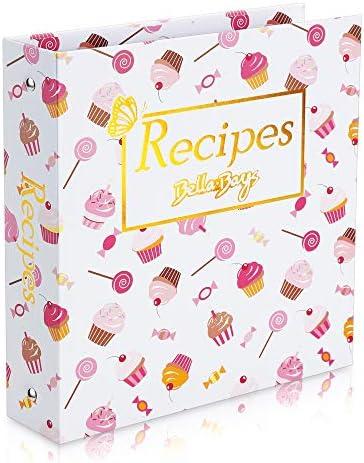 Recipe Binder Book 3 Ring Organizer Holder Kit 8 5 x 9 5 Ice Cream Full Page Recipe Book Binder product image