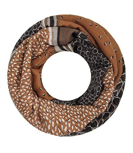Majea Loop Schal Damen Schlauchschal - viele Farben - modischer Loopschal - Halstücher (braun 10)