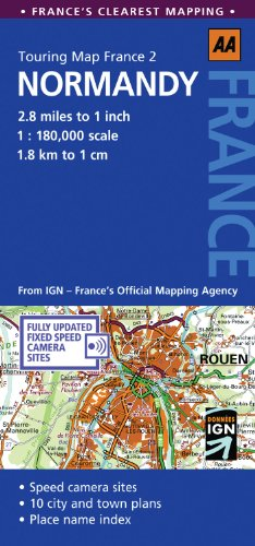 Normandy: No. 2: AA Touring Map France (Aa Touring Map France 02) [Idioma Inglés] (Normandy: AA Touring Map France)