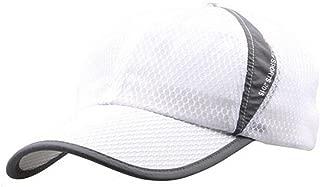 Womens Mens Quick Drying Mesh Baseball Cap Summer Cool Breathable Lightweight Anti UV Sun Protection Hat Adjustable Snapback Tennis Golf Fishing Running Cycling Sun Hat Cap Visor