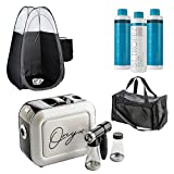 Naked Sun Onyx Spray Tan Machine Kit with St. Tropez Sunless Professional Tanning Solutions, 25 pair Grey Disposable Spa Feet, Black Tanning Tent and Large Technician Duffel Bundle (7 Items)