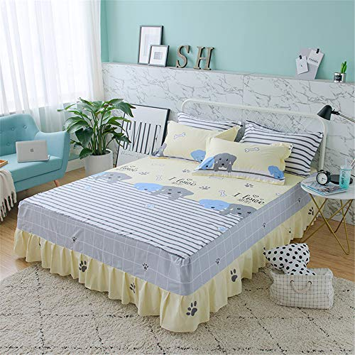 Quilted Double Microfiber Lightweight Coverlet,Cotton twill printed bed skirt A-16 150 * 200CM
