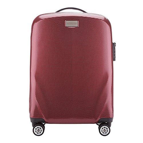 WITTCHEN Koffer – Handgepäck | hartschalen, Material: polycarbonat | hochwertiger und Stabiler | Burgund | 32 L | 56x37x20 cm
