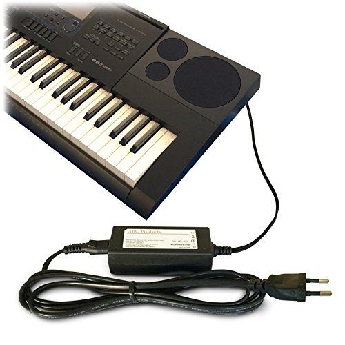 ABC Products - Cavo adattatore di ricambio Casio DC 12V / 12Volt (AD-A12150LW, AD-A12150, Privia Pro) per Casio Synthesizers, per pianoforte (modelli indicati sotto)
