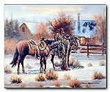 Cowboy At First Light Wild West Western Home Wall Decor Art Print Poster (16x20)