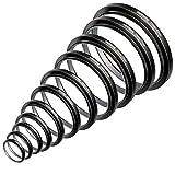 Neewer 11 Piezas Step-up Anillo Adaptador Set Hecho de Aluminio Anodizado Premio, Incluye: 26-30MM 30-37MM 37-43MM 43-52MM 52-55MM 55-58MM 58-62MM 62-67MM 67-72MM 72-77MM 77-82MM(Negro)