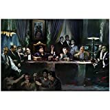 LYWUSUZE The Last Supper - Movie & Tv Gangster Collage Oil Paintings Art Picture Home Decor Gift Artwork Print On Canvas-60X120Cm No Frame