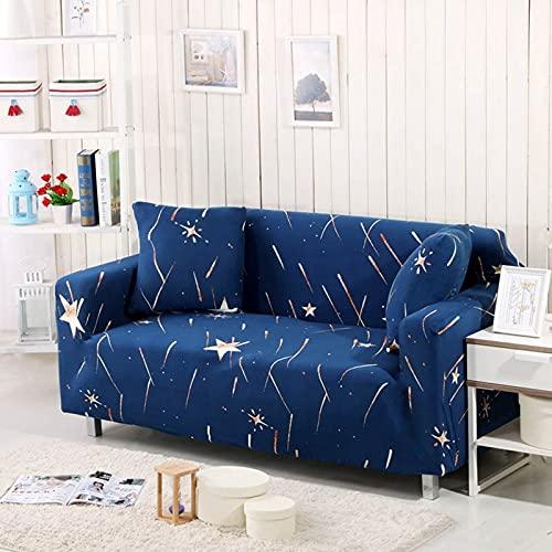 Funda de sofá elástica para sillón Funda de sofá de poliéster Ultrafina para Sala de Estar Funda de sofá Universal A27 2 plazas