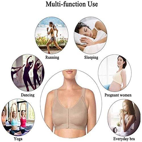 wangman Posture Corrector Bra, Women Wireless Back Support Lift Up Yoga L White