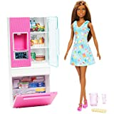 Barbie Mattel You Can be Anything - Dark Skin Doll with Refrigerator Playset (GHL85)