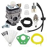 Hayskill MC43 Carburetor with Repower Tune-Up Kit for Earthquake Ardisam E43 Auger 300486 11334 43CC 51.7CC 2 Cycle Carb MC43CE MC43E MC43ECE MC43RCE Tiller/Cultivator Parts