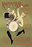"Woman and Pan withドラムFineアートキャンバス印刷( 20"" x30"" )"